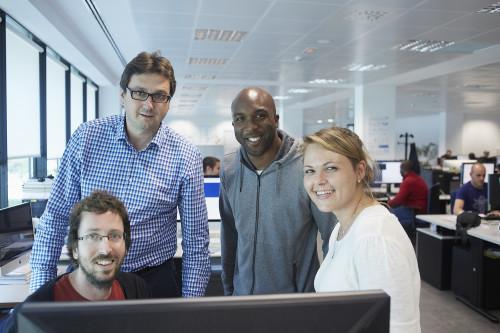 Uma equipe GFT formada por profissionais de diferentes nacionalidades trabalhando em nosso escritório de Sant Cugat (Barcelona)