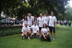 GFT Kollegen vor dem Start des Firmenlaufs