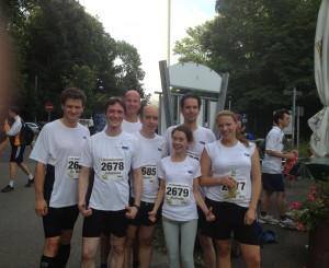 GFT Team nach dem Stuttgarter Firmenlauf