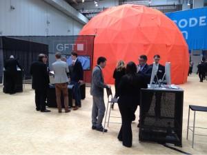 Der GFT Stand in Halle 16 auf der CeBIT 2013