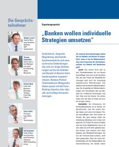 """Hier finden Sie das vollständige Expertengespräch """"Kernbanken - Zwischen Standardisierung und Flexibilität"""" verlinkt."""