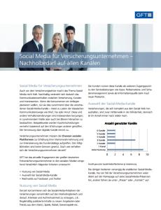 Social Media für Versicherungs- unternehmen - Nachholbedarf auf allen Kanälen