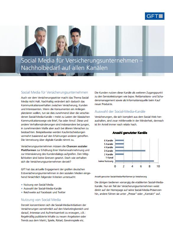 Social Media für Versicherungsunternehmen - Nachholbedarf auf allen Kanälen