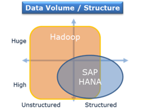 SAP HANA und Hadoop: Datenvolumen und Struktur