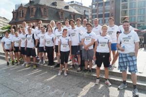 Das GFT Running Team beim Firmenlauf Frankfurt 2014 - J.P. Morgan Chase Corporate Challenge