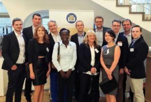 Das Team von creditshelf beim Frankfurter Gründerpreis nach dem Gewinn des 2. Platz als bestes FinTech