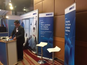 Der GFT Stand beim RBR Event in London.