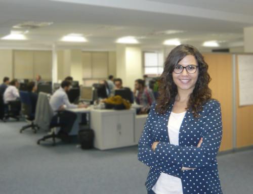 Ana María Martínez. En las oficinas de GFT Valencia