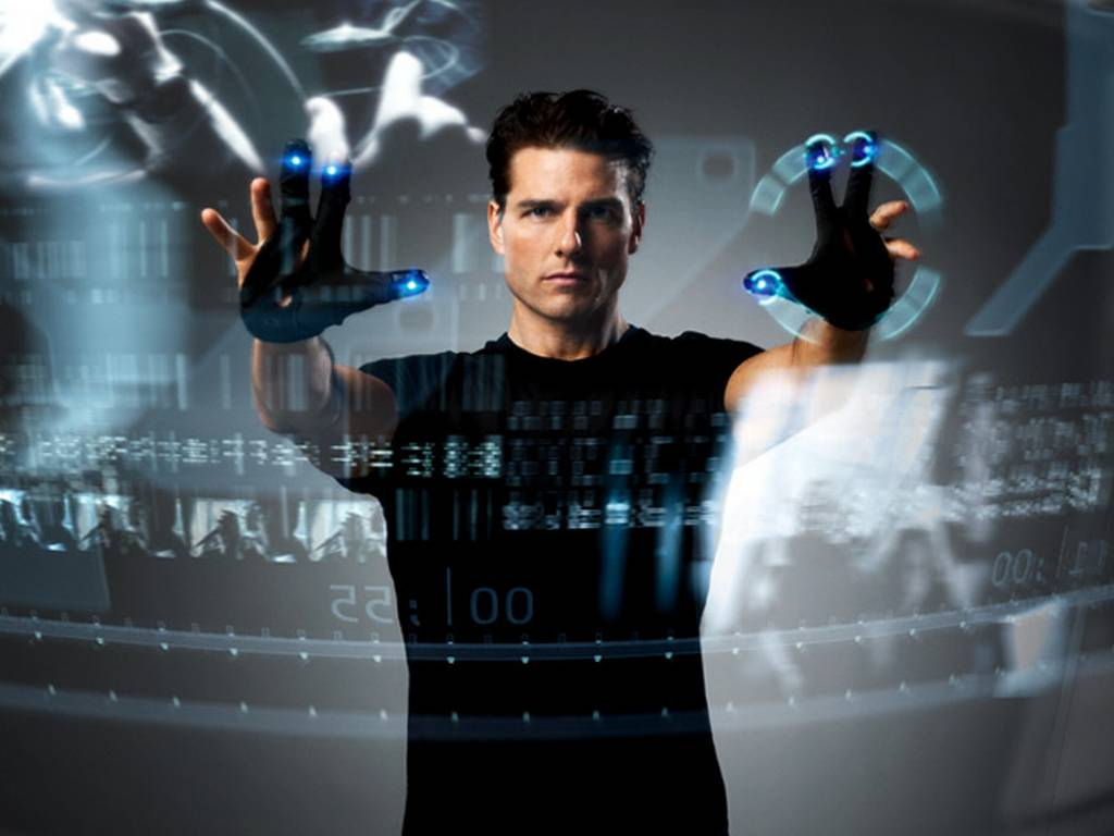 Tom Cruise en la película Minority Report