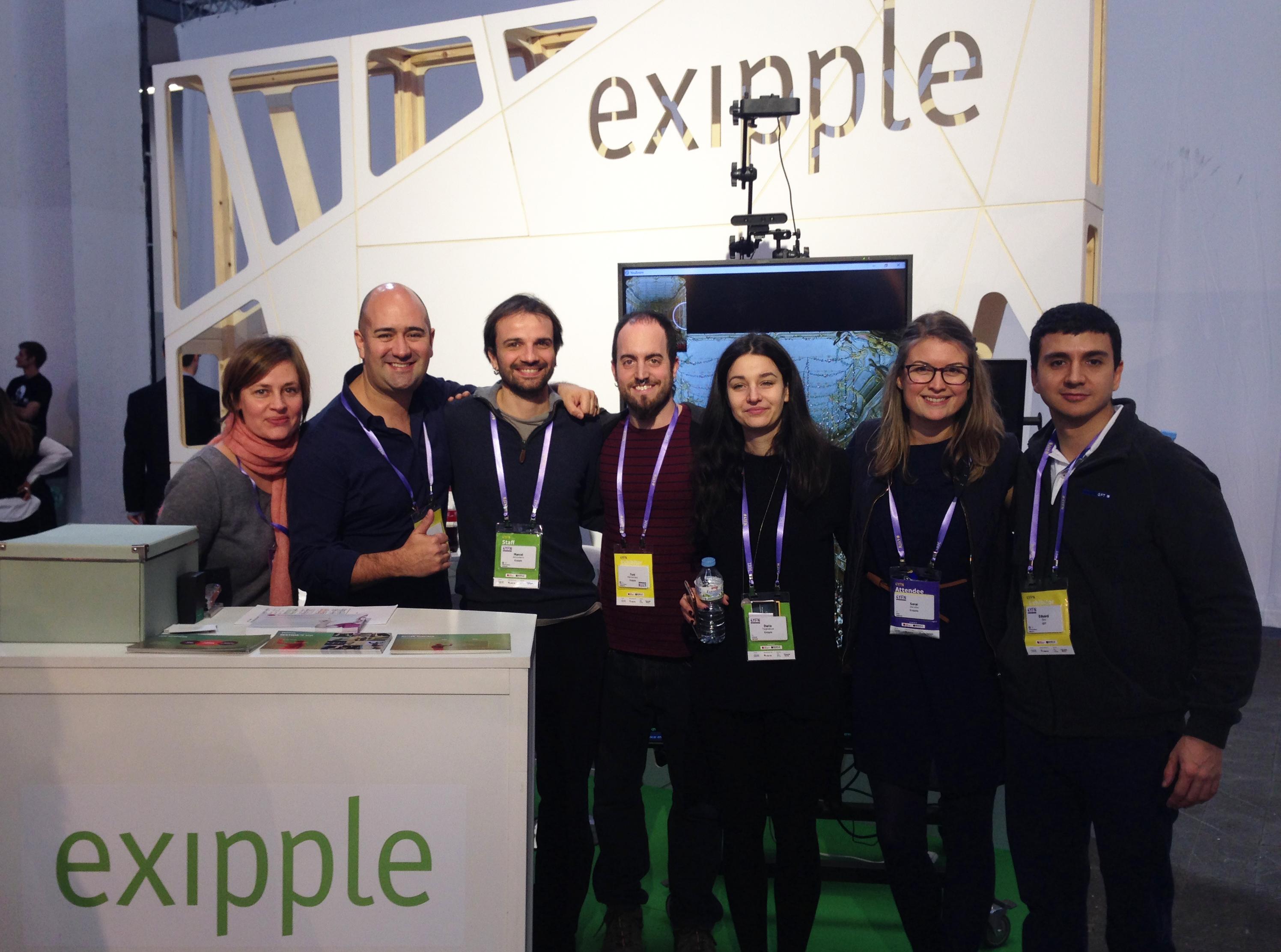 Eduard Bru de GFT con el equipo de Exipple Studio
