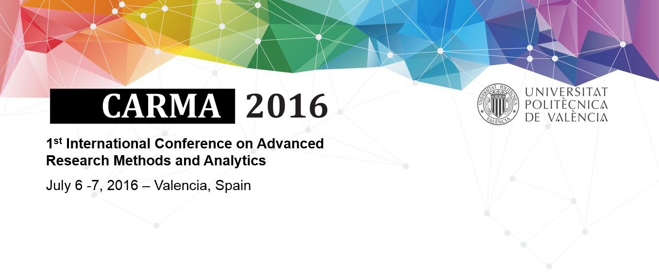 la 1-st International Conference on Advanced Research Methods and Analytics