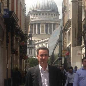 Albert Franquesa looking  happy in London